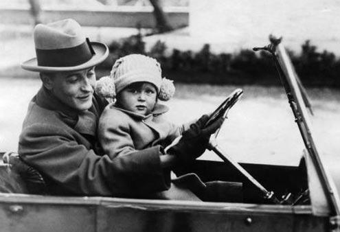"""Francis Scott Fitzgerald con la figlia """"Scottie"""" a Roma"""