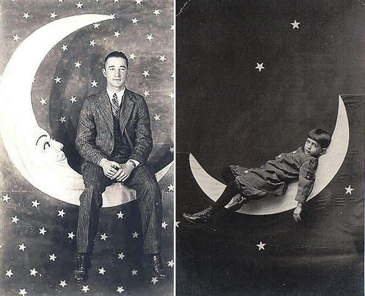 Due tipici esempi di istantanea con la Luna di Cartone